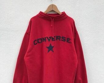 20% OFF Vintage Converse Embroidery Big Logo Pullover/Converse Usa/Converse Sweater/Converse Spell Out