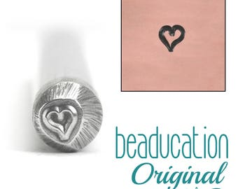Heart Metal Design Stamp, Tiny Heart 3mm - Metal Stamping / Punch Tools for Metal Stamped DIY Jewelry, Jewelry Making Tools (DS109)