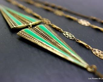 Long necklace, art deco necklace