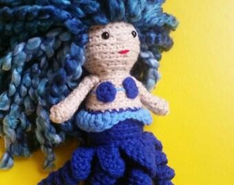 Mini Cecaelia Amigurumi Crochet Doll
