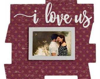 I Love Us - Frame Pallet Puzzle - Wooden - Home/Wall Decor