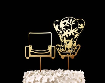 Up Chairs Wedding Cake Topper
