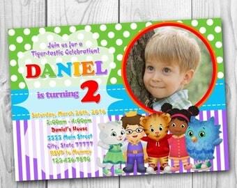 Daniel Tiger Invitation - Daniel Tiger Birthday Party Invitation - Daniel Tiger's Neighborhood Invitation