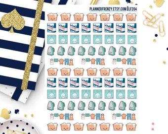 77 Kawaii Laundry Planner Stickers! LF204