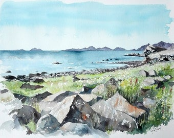 Original watercolour - Lofoten - Norway