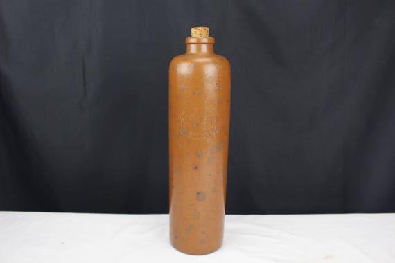 Antique Primitive Stoneware HAVEMEYER RHEINPERLE Beer Liquor Bottle