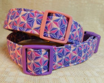 Purple Dog Collar / Lavender Dog Collar / Pink  Dog Collar / Cool Dog Collar / Dog Present  / Dog Gift / Best Dog Collar