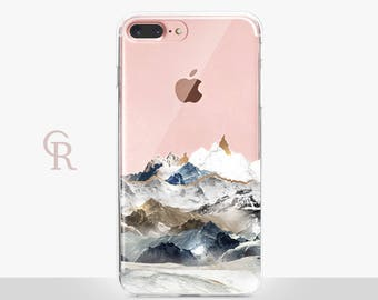 Mountains iPhone X Clear Case For iPhone 8 - iPhone X - iPhone 7 Plus - iPhone 6 - iPhone 6S - iPhone SE Transparent - Samsung S8 Plus