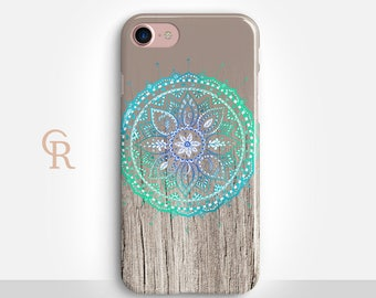 Mandala iPhone 7 Case For iPhone 8 iPhone 8 Plus iPhone X Phone 7 Plus iPhone 6 iPhone 6S  iPhone SE Samsung S8 iPhone 5 Spiritual Bohemian
