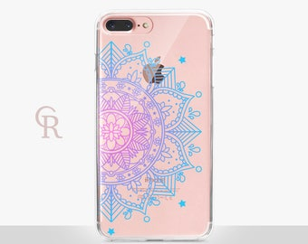 Mandala Clear Phone Case For iPhone 8 iPhone 8 Plus iPhone X Phone 7 Plus iPhone 6 iPhone 6S  iPhone SE Samsung S8 iPhone 5 Transparent