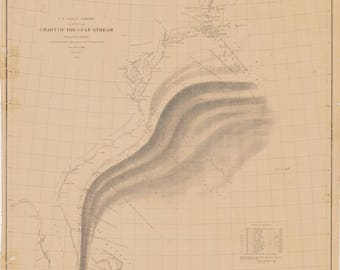 Gulf Stream Chart 1886