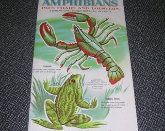 Reptiles and Amphibians Punch Outs  Golden Funtime Books Vintage