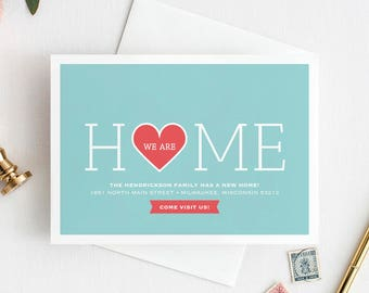 Moving Announcement, New Home Announcement, New Address, We Moved, We Are Home Printable, Postcard Template, PDF Instant Download #BPB200_4