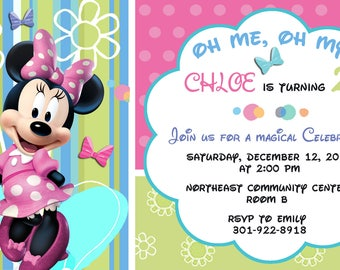 Minnie Mouse  Printed Invitations and more..