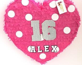 Sweet Sixteen Heart Pinata