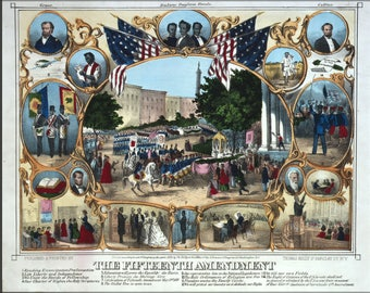 Poster, Many Sizes Available; 15Th Amendment African-American Civil Rights Right To Vote 1870