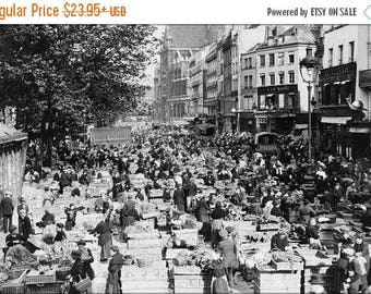 40% OFF SALE Poster, Many Sizes Available; Street Market In Paris, France 1920