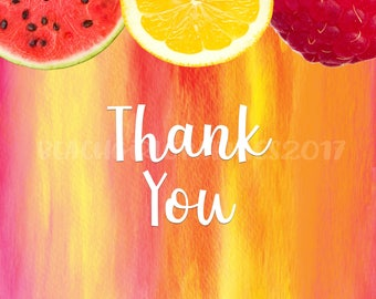 Fresh Fruit Thank You Postcards