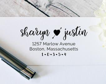 Return Address Stamp - Self Inking Stamp - Wedding Return Stamp - Custom Address Stamp - 138