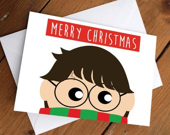 HARRY POTTER - xmas edition // christmas, holidays, festive, greeting cards, wizard, hogwarts, present, love