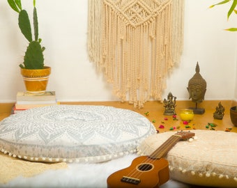 Floor Sitting Cushions, Floor Pouf, Mandala Pillow, Outdoor Cushions, Large Floor Pillows, Pouffes - FILLER NOT INCLUDED