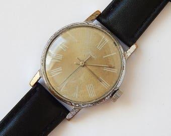Very Rare ZIM Watch Mechanical Watch Soviet Watch Mens Watch Old Pobeda Watch Zim USSR 60's Russian Watch mens vintage watch mens gift watch