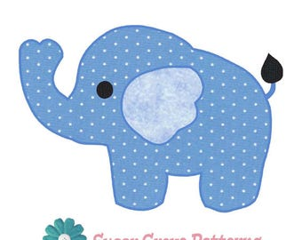 Elephant Applique Etsy