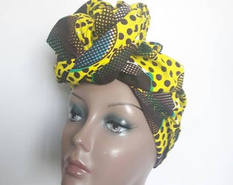 2 African print headwraps, ankara head tie African wax headwraps christmax gift ideas
