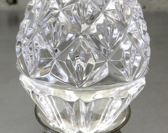 1997 Waterford Crystal Annual Egg w/Original Silver Stand, No Box