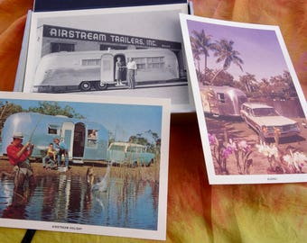 AIRSTREAM Trailer Collectible Post Card Collection in Original Box/ Vintage AIRSTREAM Post Card Collection/ AIRSTREAM Trailer Memorabilia/