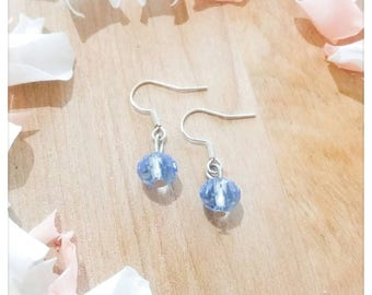 Cinderella blue Bohemian earrings