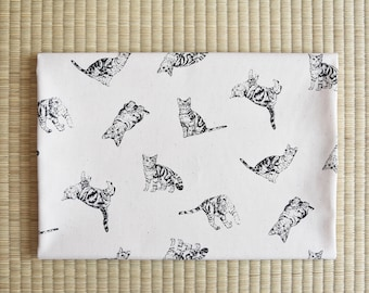 japanese cat fabric  1/2 yard