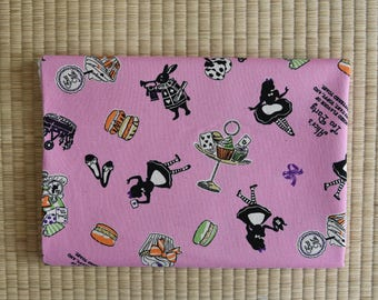 alice in wonderland  Fabric 1/2 yard