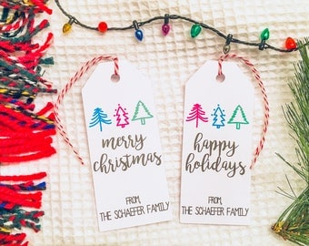 Personalized Holiday Tree Gift Tags