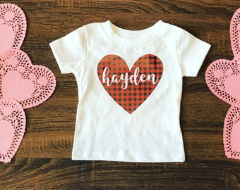Valentines Day Outfit | Toddler Valentines Shirt | Valentines Shirt for Girls | Toddler Valentines Day Shirt | Buffalo Plaid Shirt
