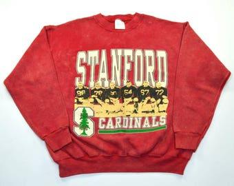 1980s Stanford Univeristy Cardinals FootBall Crewneck Sweater