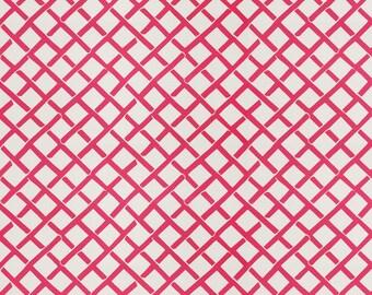 DESIGNER FRETWORK PRINT Cotton  Fabric 10 Yards Pink