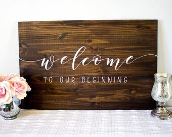 Welcome To Our Wedding|Wood Sign