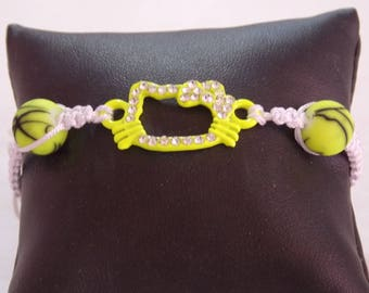 Shamballa neon yellow cat
