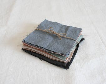 Linen assorted color remnant set
