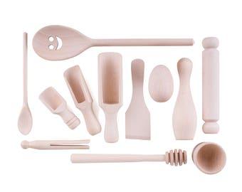 Montessori Treasure Basket Wooden Top-up  Set - 12 Items