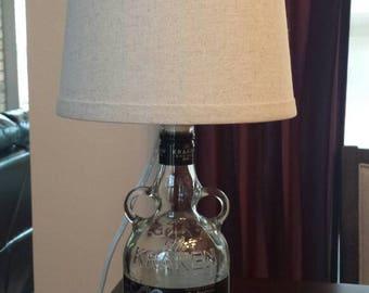 Cool rum bottle lamp