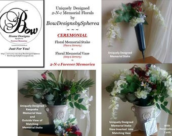 No. FP-8354-2N1A  BowDesignsbySpherea's Uniquely Designed 2-N-1 Forever Plant Memorials