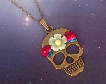 Necklace skull summer night