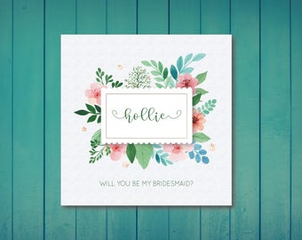 Will You Be My Bridesmaid/ Maid of Honour / Flower Girl / Greetings Card