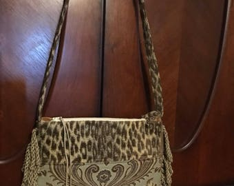 Fringe Leopard Shoulder Bag
