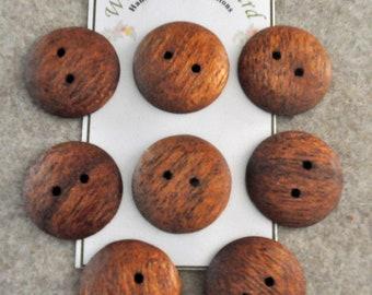 """1"""" Mahogany - Handmade  8 buttons"""