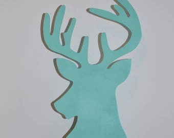 Customizable to the wall deer applique