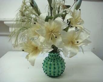 Vase handmade spiky and fun.