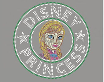 Rhinestone DIY Transfer - Princess Designs~ Exclusive Designs- DIY Rhinestone Transfer